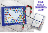 In The Hoop Dove Peace Christmas Card Embroidery Machine Design