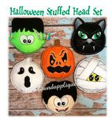 In The Hoop Stuffed Halloween Heads Embroidery Machine Design Set