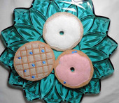 Felt food bagels and waffle