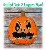 In The Hoop Stuffed Jack O Lantern Head Embroidery Machine Design