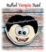 In The Hoop Vampire Stuffed Head Embroidery Machine Design