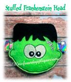 In The Hoop Stuffed Frankenstein Head Embroidery Machine Design