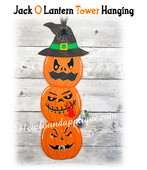 In The Hoop Jack O Lantern Tower Hanging Embroidery Machine Design