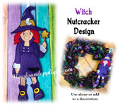 In The Hoop Witch Nutcracker Hanging Embroidery Machine Design