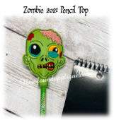In The Hoop Zombie Pencil Topper Embroidery Machine design