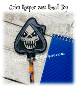 In The Hoop Grim Reaper Pencil Top Embroidery Machine Design