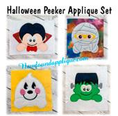 In The hoop Halloween Peeker Applique Embroidery Machine Designs
