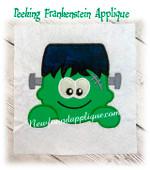In The Hoop Frankenstein Peeker Applique Embroidery machine design