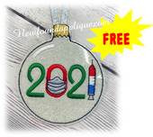 In the Hoop FREE 2021 Ornament Design