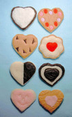 Valentine felt Cookie Set
