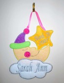Baby Name  Moon & Star Wall Plaque