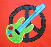Peace symbol with guitar