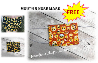 THIS MASK IS NOT INTENDED TO STOP THE SPREAD OF THE COVID 19 OR ANY VIRUS.  IT IS A MEANS TO KEEP YOUR HANDS OFF OF YOUR MOUTH AND NOSE AREA. BY DOWNLOADING THIS DESIGN, YOU ARE AGREEING THAT YOU UNDERSTAND THIS.  WHILE NEWFOUNDAPPLIQUE UNDERSTANDS THAT YOU CAN BUY FILTERS TO PUT IN HOME MADE MASKS FOR POLLIN AND OTHER DUST PARTICLES, WE DO NOT APPROVE OF ANY OF THESE AS WE HAVE NOT PERSONALLY TESTED THEM.