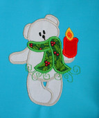 Christmas Teddy with Candle