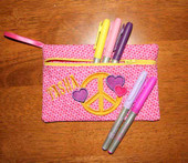 Pencil case Peace Symbol