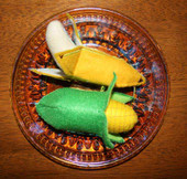 Felt Food banna and Corn