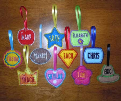 Lunch Box Name Tag Set Newfound Applique