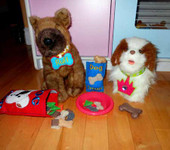 Felt Play Dog food and Collar Ith
