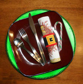 Santa Belt napkin Wrap