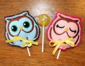 Owl Lollipop Holders