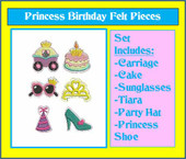 Birthday Princess Felt Bits and Pieces