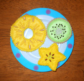 Pinapple kiwi starfruit slice set
