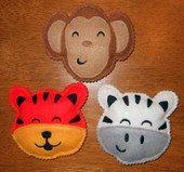 Jungle Animal Bean Bag Set  2