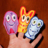 Monster Finger Puppet ITH Set