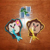 Monkey Lollipop Holder ITh Design Set