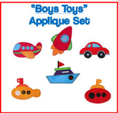 Boys Toys Applique Set