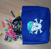 Tote with Skull and Bandana Applique