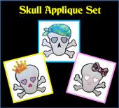 Skull Applique Set