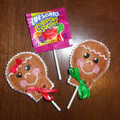 Gingerbread Lollipop Cover ITH Design Set