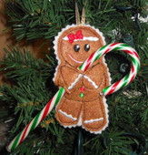 Gingerbread Candy Cane Holder Design Set