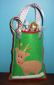 Rudolph Christmas Gift Bag In the hoop Design