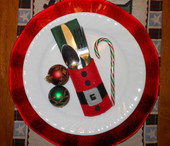 Santa Belt Utensil Pocket In the Hoop Design