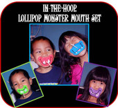 Lollipop Monster Mouth in the Hoop Design Set