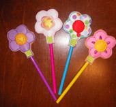 Flower Pencil Topper In the Hoop Design Set