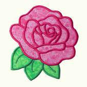 Flower Applique Rose