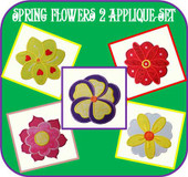 Spring Flower 2 Applique Design Set