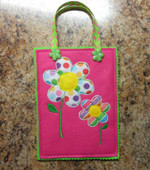 Easter Flower Treat Bag In the Hoop Design