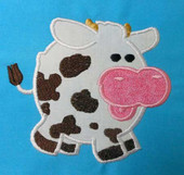 Chubby Animals Cow Applique