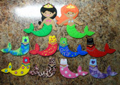 In the Hoop Felt Dress Up Mermaid Dolls