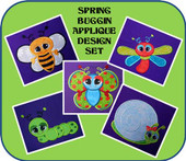 Spring Buggin Applique Set