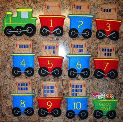 Counting Cargo Train In The Hoop Design Set Newfound Applique