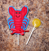 In The Hoop Lobster Lollipop Holder