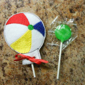 Beach Ball Lollipop Holder Design