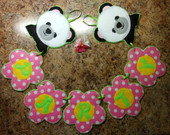 Party Panda Flower Alphabet Banner