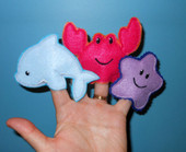 ITH Sea Friends Finger Puppet Embroidery Machine Design Set