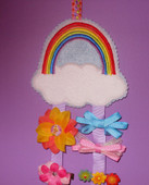 Rainbow Hair clip and Bow Holder Design